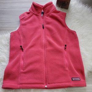 Womens Vineyard Vines Hot Pink Fleece Vest